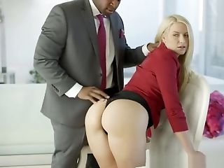 Business Blonde Anikka Albrite Ass Fucked By a BBC