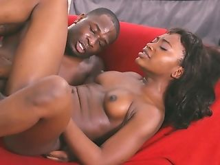 Black guy fucks pussy and mouth of slutty chick Noemie Bilas and cums in her mouth