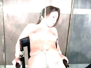 This hoe is a bondage noob and she is getting her twat toyed like never before