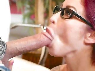 Big Cock, Blowjob, Business Woman, Deepthroat, Fake Tits, Glasses, HD, MILF, Office, Oral Sex,