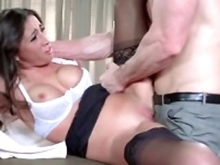 Elegant Stephani Moretti gets fucked by her boss