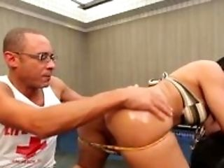 Bruna Butterfly Strips and Strokes her SheCock!