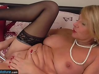 Awesome mature and granny solo masturbation and toying videos compilation