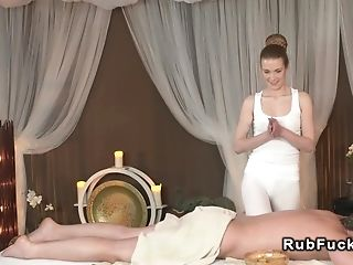 Masseuse gets ass cumshot after fuck