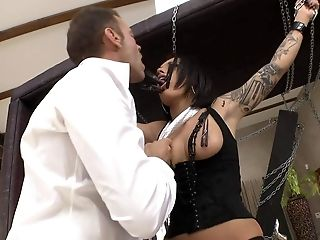 Lovely tattooed brunette Nikita Bellucci gets dominated by Franceska Jaimes