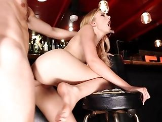 Great foot fetish fuck at the bar with Alexa Grace