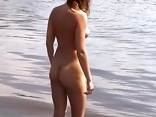 Horny Amateur video with Nudism, Beach scenes