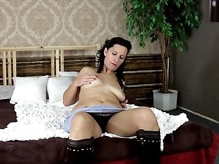 Black-haired cutie loves using her purple sex toy every single day