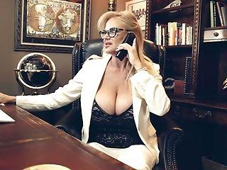 Big Tits, Blonde, Fake Tits, Glasses, Kelly Madison, Long Hair, MILF, Moaning, Model, Pornstar,