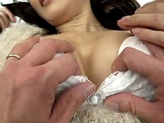 Japanese model is having her pussy licked and stuffed with passion