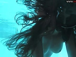 Mouth watering underwater masturbation scene with a sexy Diana Kolgotkina