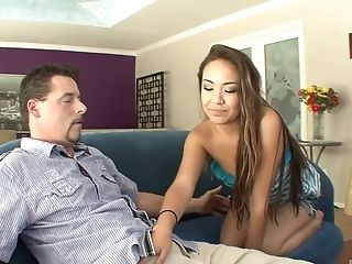 Gorgeous babe Lily Lust seduced by a pussy craving fellow