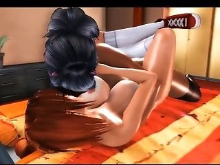 3d, Futanari, HD, Shemale Fucks Girl,