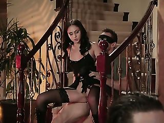 Naughty woman Ariana Marie wants Johnny Castle shove his love wand in her mouth again