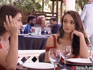Adria Rae and Ashley Anderson hook up with a guy for an outdoor fuck