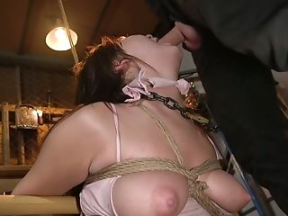 This babe's curvy body is outta control and she loves kinky bondage sex
